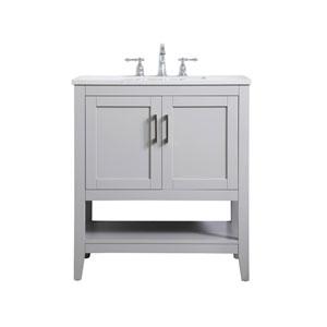 Aubrey Gray 30-Inch Vanity Sink Set