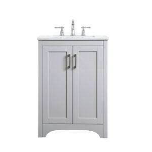 Moore Gray 24-Inch Vanity Sink Set