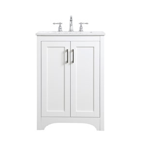 Moore White 24-Inch Vanity Sink Set