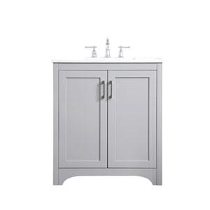 Moore Gray 30-Inch Vanity Sink Set