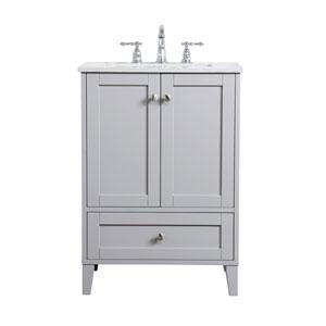 Sommerville Gray 24-Inch Vanity Sink Set