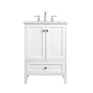 Sommerville White 24-Inch Vanity Sink Set