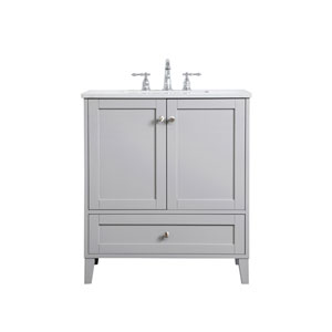 Sommerville Gray 30-Inch Vanity Sink Set