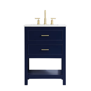 Sinclaire Blue 24-Inch Vanity Sink Set