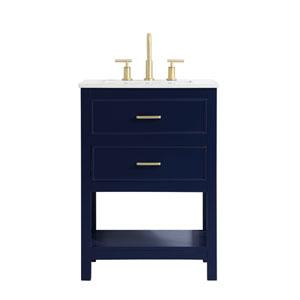 Sinclaire Blue 24-Inch Vanity Sink Set