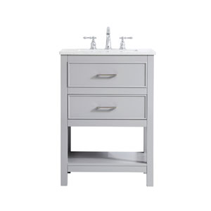 Sinclaire Gray 24-Inch Vanity Sink Set