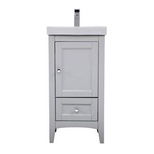 Saturn Gray 18-Inch Vanity Sink Set