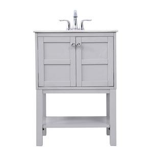 Mason Gray 25-Inch Vanity Sink Set