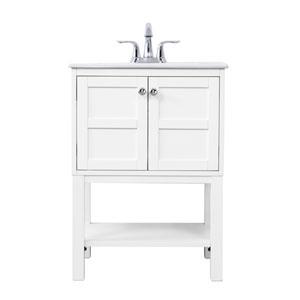 Mason White 24-Inch Vanity Sink Set