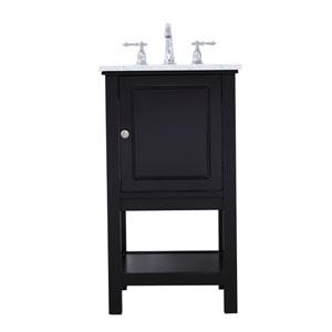 Metropolis Black 19-Inch Vanity Sink Set