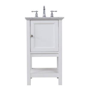Metropolis White 19-Inch Vanity Sink Set