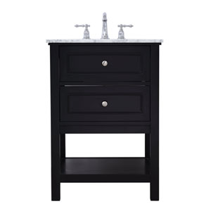 Metropolis Black 24-Inch Vanity Sink Set