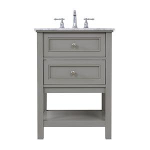 Metropolis Gray 24-Inch Vanity Sink Set