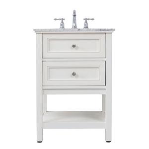 Metropolis White 24-Inch Vanity Sink Set