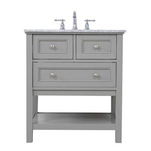 Metropolis Gray 30-Inch Vanity Sink Set