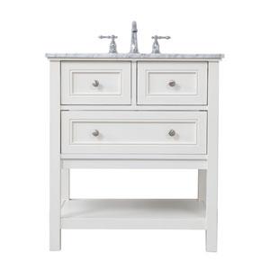 Metropolis White 30-Inch Vanity Sink Set