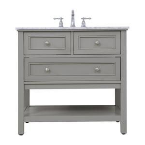 Metropolis Gray 36-Inch Vanity Sink Set