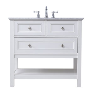 Metropolis White 36-Inch Vanity Sink Set