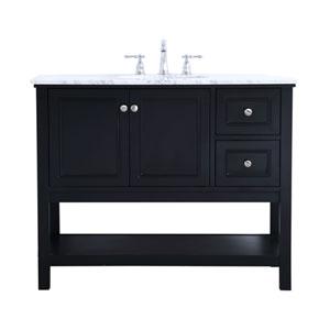 Metropolis Black 42-Inch Vanity Sink Set