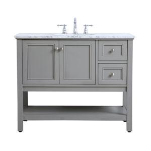 Metropolis Gray 42-Inch Vanity Sink Set