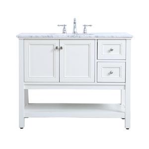 Metropolis White 42-Inch Vanity Sink Set