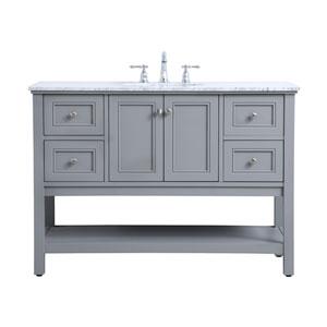 Metropolis Gray 48-Inch Vanity Sink Set