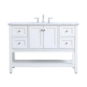 Metropolis White 48-Inch Vanity Sink Set