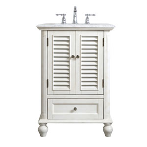 Rhodes Antique White 24-Inch Vanity Sink Set