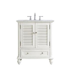Rhodes Antique White 30-Inch Vanity Sink Set