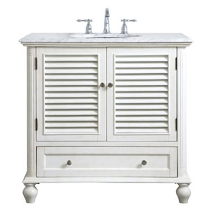 Rhodes Antique White 36-Inch Vanity Sink Set