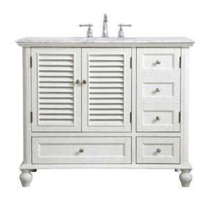 Rhodes Antique White 42-Inch Vanity Sink Set