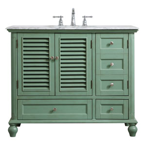 Rhodes Vintage Mint 42-Inch Vanity Sink Set