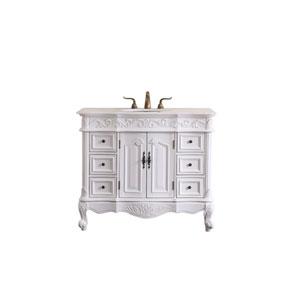 Oakland Antique White 42-Inch Vanity Sink Set