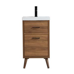 Boise Walnut Brown 18-Inch Vanity Sink Set