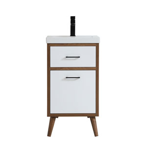 Boise Matte White 18-Inch Vanity Sink Set