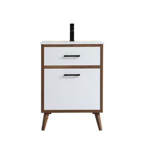 Boise Matte White 24-Inch Vanity Sink Set