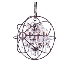 Geneva Rustic Intent Twenty-Five-Inch Pendant with Clear Crystals