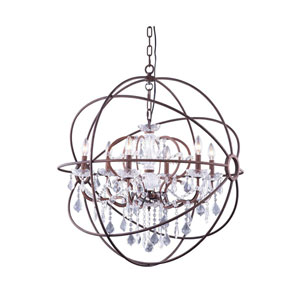 Geneva Rustic Intent Thirty-Two-Inch Pendant with Clear Crystals