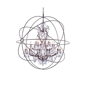 Geneva Rustic Intent Sixty-Inch Pendant with Clear Crystals