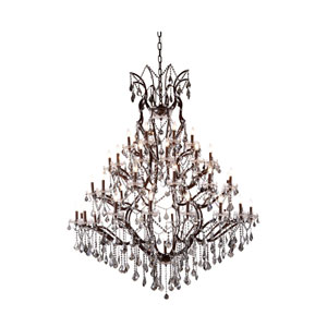 Elena Rustic Intent 49-Light Chandelier with Silver Crystals