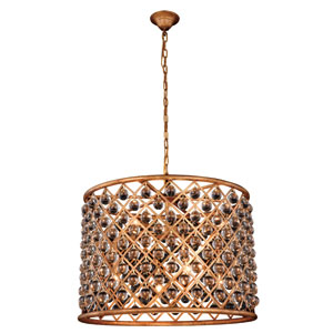 Madison Golden Iron 27.5-Inch Eight-Light Pendant