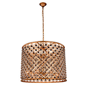 Madison Golden Iron 35.5-Inch Twelve-Light Pendant