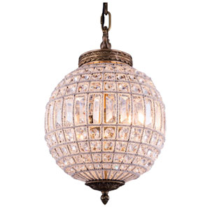 Olivia French Gold One-Light Pendant with Royal Cut Clear Crystals