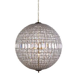 Olivia French Gold Eight-Light Pendant