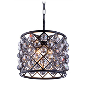Madison Mocha Brown Four-Light Pendant with Royal Cut Silver Shade Crystals