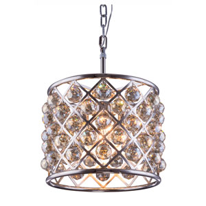 Madison Polished Nickel Four-Light Pendant with Royal Cut Golden Teak Crystals