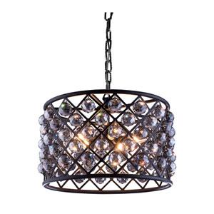 Madison Mocha Brown Six-Light Pendant with Royal Cut Silver Shade Crystals
