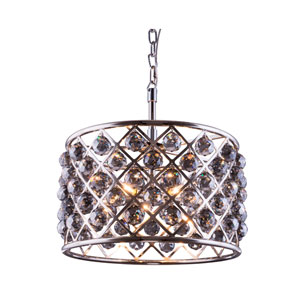 Madison Polished Nickel Six-Light Pendant with Royal Cut Silver Shade Crystals