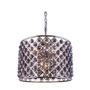 Madison Polished Nickel Eight-Light Pendant with Royal Cut Silver Shade Crystals