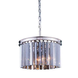 Sydney Polished Nickel Sixteen-Inch Pendant with Royal Cut Silver Shade Crystals